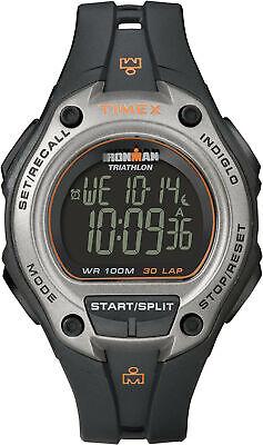 Timex Men's Ironman Triathlon 30-Lap Digital 100m Black Resin Watch T5K758