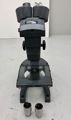 Bausch Lomb Stereo Vintage Microscope 3 Sliding 2x4x 7.5x Objective10x W.f.