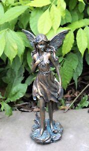 Magical Fairy Garden Ornament Bronze Effect Figurine Angel Statue Gift 26cm