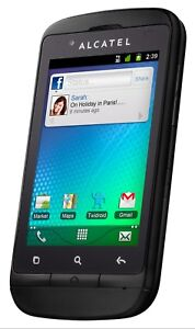 Alcatel One Touch 918A Unlocked GSM Smartphone Black New