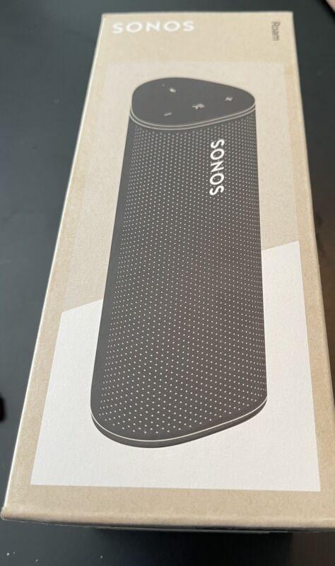 BRAND NEW SONOS ROAM Smart Portable Wi-Fi Bluetooth Waterproof Speaker - Black