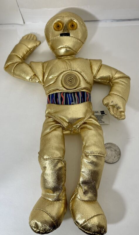 """Star Wars C-3PO Beanie Plush Collectible 10"""" Hasbro 2004(used) Good Condition!!"""