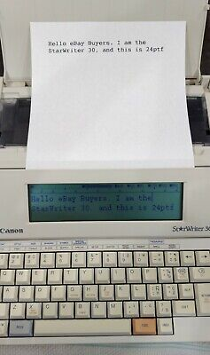 Canon Star Writer 30 Word Processor - New Ribbon - Works Great