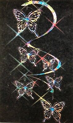 Colorful HOLOGRAPHIC SHIMMERING Spiral BUTTERFLY MOBILE WIND SPINNER Nice L@@K!