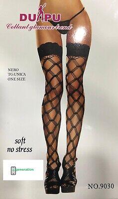 Calze Parigine Velate Autoreggenti Collant Molto Sexy leggins