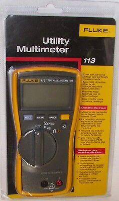 Fluke 113 True Rms Multimeter Utility Voltmeter Fluke-113