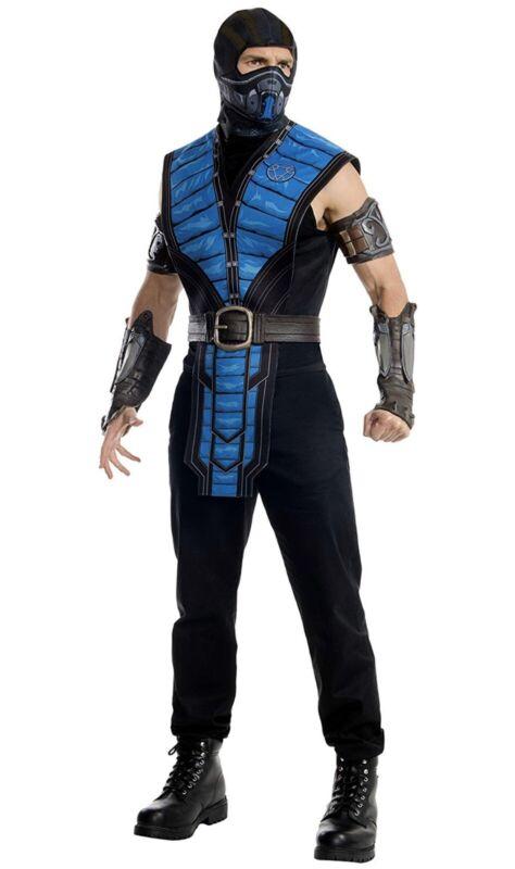 New Mortal Kombat Sub Zero Adult Costume Men's Size Medium 38-40 Jacket Size
