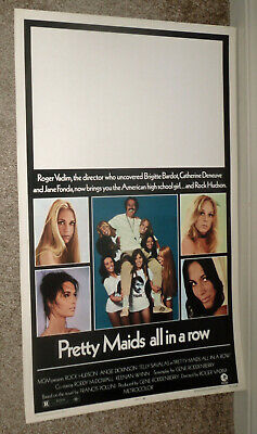 PRETTY MAIDS ALL IN A ROW orig1971 ROLLED movie poster ROCK HUDSON/BARBARA