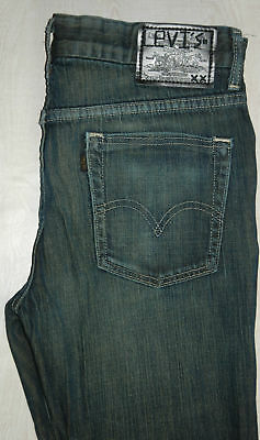 Rare Levis Jeans 568 xx Slim Skinny Black Sharps Straight Blue Dyed Mid 28 29 30