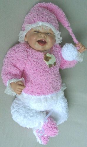 Pullover Hose Mütze Schuhe Puppenkleidung Baby Born Reborn Babypuppe 40-45 cm