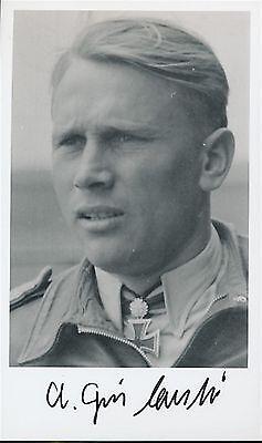 Alfred Grislawski signed  pic. Luftwaffe Ace. 132 kills. JG-52. JG-1