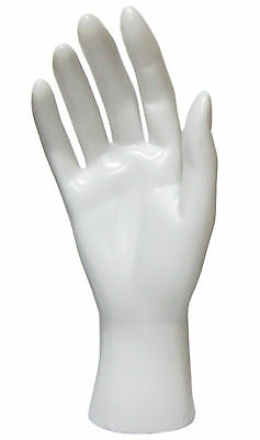 Mn-handsf-wf White Right Female Mannequin Hand Jewelry Display White Only