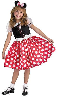 Minnie Maus Rot Weiß Mädchen Kostüm Gepunktet Maskottchen ()