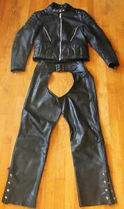Leather Jacket & Leather Chaps Size Small