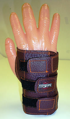 XLarge Robby/'s Plus Leather Wrist Positioner Brace Black RIGHT Hand Small