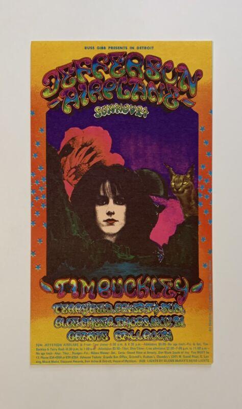 Jefferson Airplane, Stooges, Blue Cheer And Tim Buckley Grande Ballroom Original