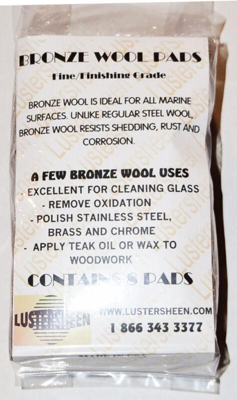 Lustersheen 8 Pad Pack Bronze Wool Grade Fine