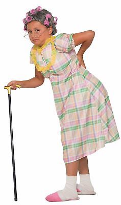 Aunt Gertie Old Woman Lady Girls CHILD Costume - Old Woman Costume