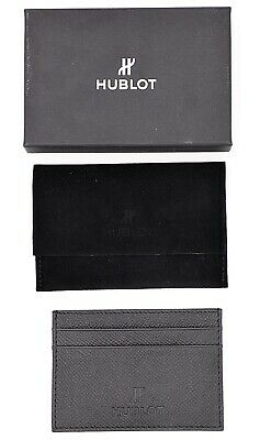 HUBLOT CARDHOLDER WALLET LEATHER CARTERA TARJETERO UNIQUE PIEL GENUINE NEW BOX