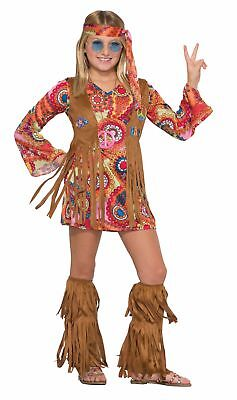 Peace Lovin' Hippie Child Girl's Halloween Costume 1970s Flower Power - Flower Power Girl Costume