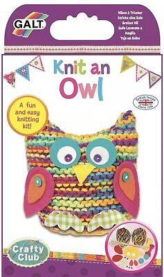 NEW IN BOX Galt KNIT AN OWL Kids Art Craft Toy Gift -