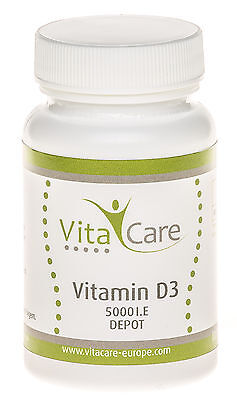 Vitamin D3 5000 I.E. DEPOT / Tagesdosis 716 I.E. - 100 Kapseln - VitaCare