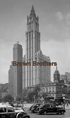 1910s NYC Woolworth Building Highest Building in World Film Camera Negative #3