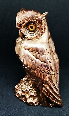 Greek Statue Owl Symbol Athena Goddness Bronze Finish 12x - Greek Goddness