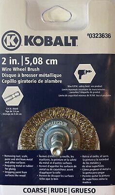 Kobalt 2-inch Coarse Wire Wheel Brush W 14-inch Shank - 0323636 - New