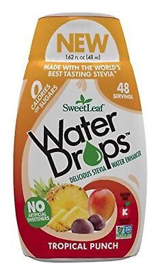SweetLeaf Water Drops TROPICAL PUNCH 1.62 oz ZERO CALORIE Enhancer NEW FLAVOR