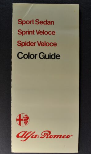 1979 Alfa Romeo Paint Chip Colors Brochure Spider Veloce Sprint, Sedan Original