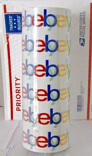 "Six (6) Rolls eBay Branded Logo BOPP Shipping Tape 75 yards x 2 "" New Sealed."