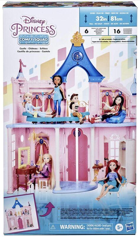 Disney Princess Fashion Doll Castle Hasbro Dollhouse 3.5 ft w/16 Accessories New