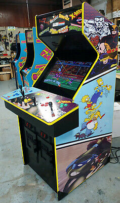"4 Player Multicade Classic Multi Arcade! 27"" LCD (80 GAMES)  TNMT X-Men Simpsons"