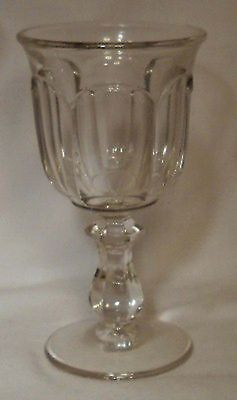IMPERIAL glass OLD WILLIAMSBURG Clear pattern WINE Glass