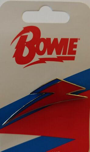 david bowie aladdin sane lighting bolt enamel pin