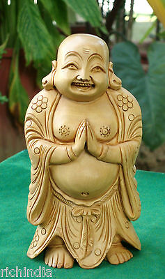 Happy Man laughing Buddha statue art Craft Good Friday luck Cristmas Gift Canada