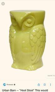 LARGE URBAN BARN YELLOW OWL STOOL, TABLE, GARDEN DECOR