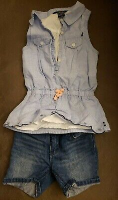 Toddler Girls Outfit Size 2T. Pre-owned. Nautica Top, GAP Shorts