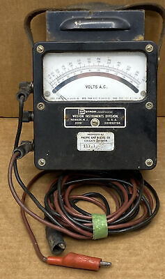 Vintage Pge Electric Weston Volts A.c. Meter Model 433 25 - 1000 Cycles 1