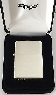 Zippo Sterling Silver Lighter With Brushed Finish, Item #13, New In -