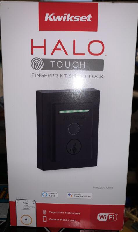 Kwikset Halo Touch Fingerprint Wi-Fi Smart Lock, Matte Black, 99590-004