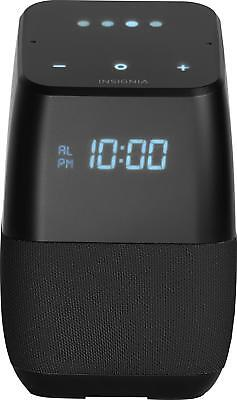 Insignia- VoiceSmart Bluetooth Speaker and Alarm Clock with Google Assist...
