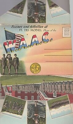 The W A A C  Womens Auxiliary Army Corps  Vintage Ft  Des Moines Postcard Set