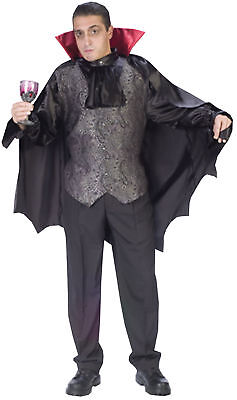 Vampire Themed Halloween Party (Dapper Dracula Adult Mens Costume Horror Movie Scary Theme Party)