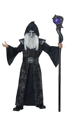 Dark Wizard Magic Sorcerer Boys Child Costume - Wizard Costume For Boy