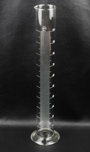 Glass 1000ml Graduated Cylinder Round Base