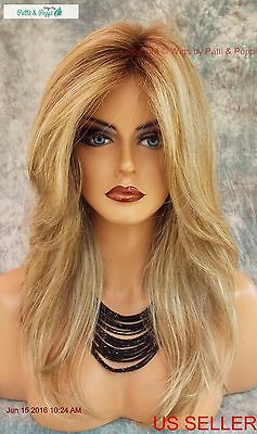 LACE FRONT MONOTOP DESIGNER WIG  *ROOTED BLOND ✮ BLOND BOMBSHELL TURN HEADS 590 - Blonde Bombshell Wig