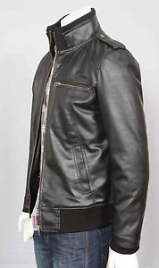 Mens faux leather jacket casual biker jacket coat all sizes next day delivery