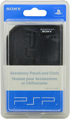 Official Sony PSP Carry Pouch Case with Pouch Blac for Sony PlayStation Portable for sale  Shipping to Nigeria